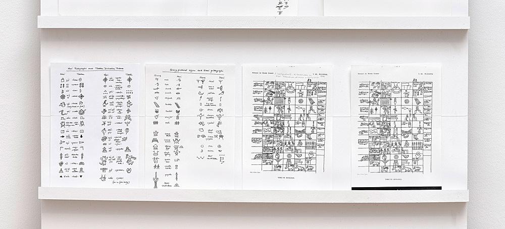 – Schreiben und Malen von Piktogrammen Installationsansicht Galerie Buchholz, Berlin 2018