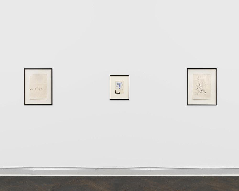 Michael Krebber Albert Oehlen – Works on Works on Paper installation view Galerie Buchholz, Berlin 2018