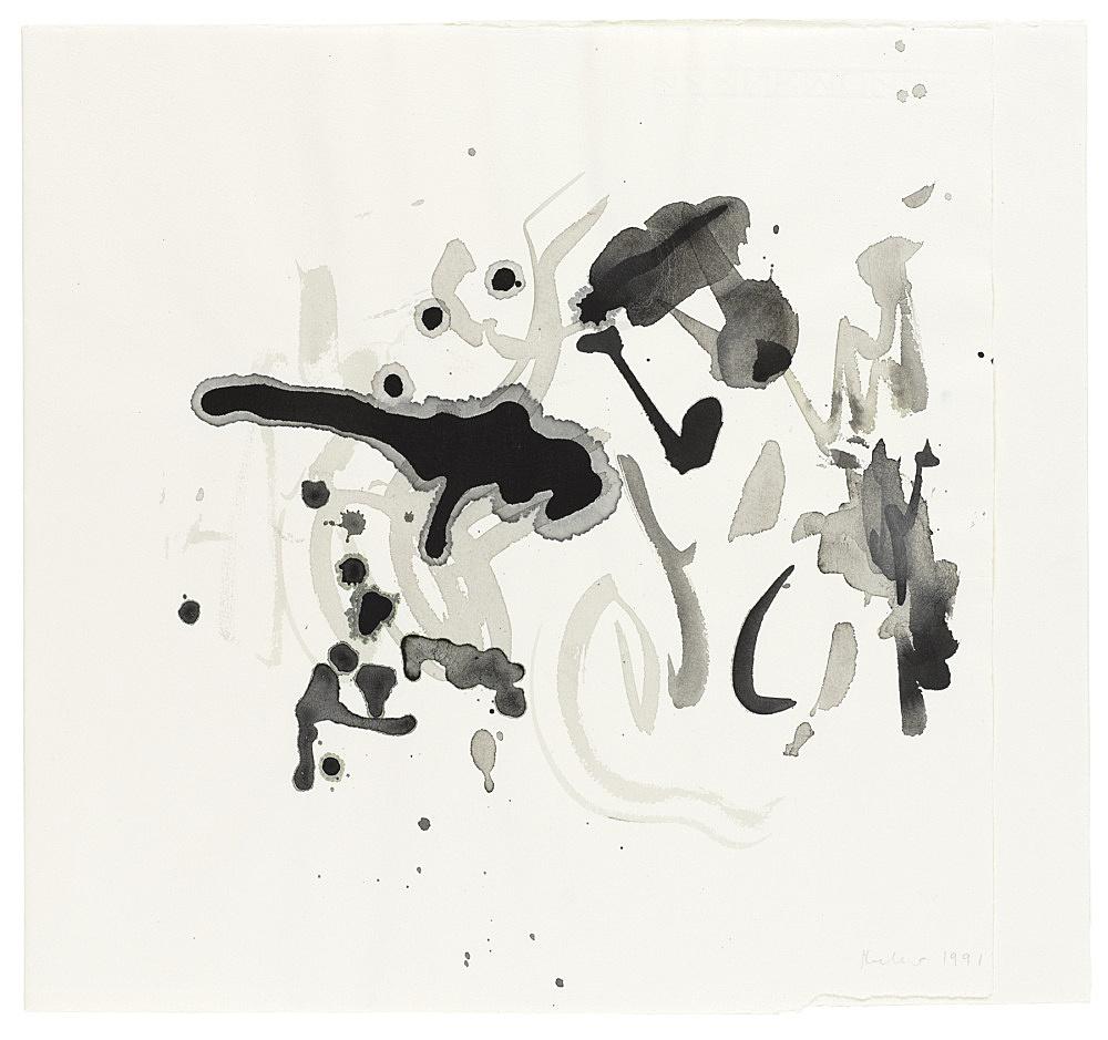 Michael Krebber – Untitled, 1991 ink on paper 35 x 38 cm