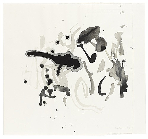 Michael Krebber – Untitled, 1991 ink on paper 35 x 38 cm