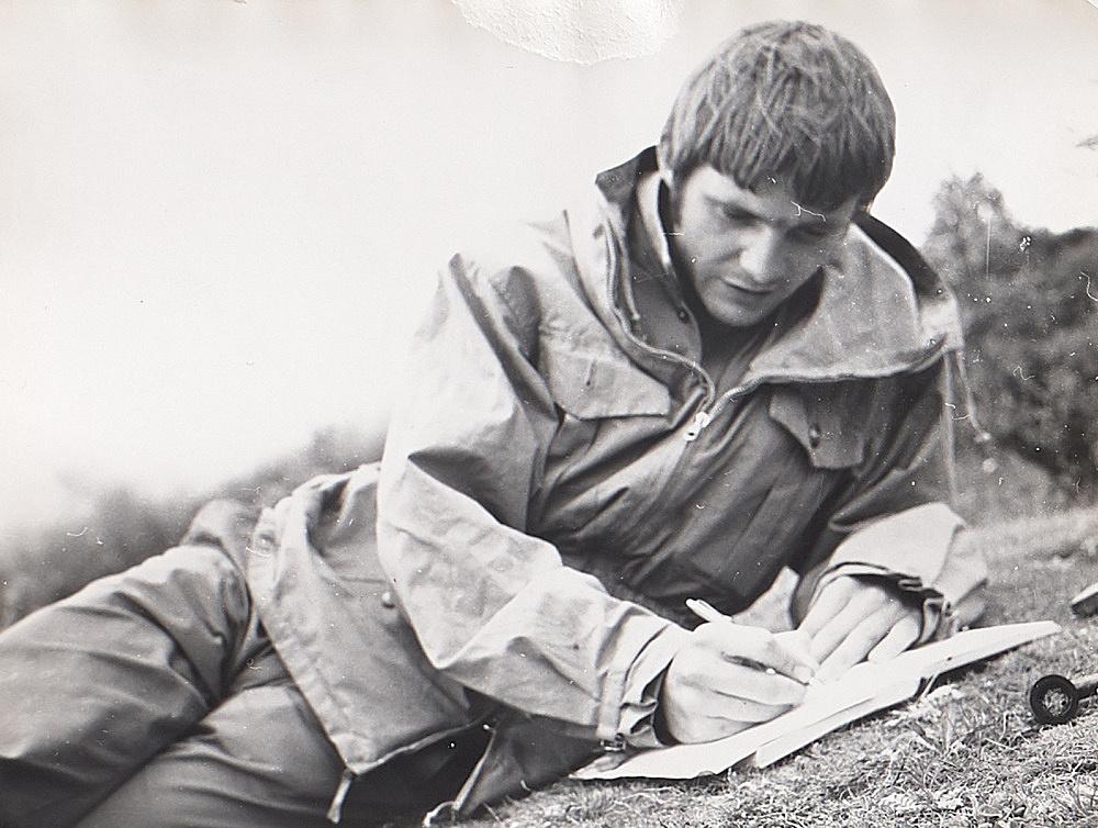 – Michael Oppitz Tagebuch schreibend, Sengephuk Fotografie, 1965