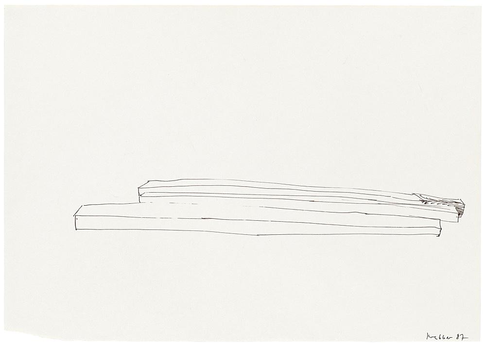 Michael Krebber – Untitled, 1987 ink on paper 29.5 x 41.5 cm