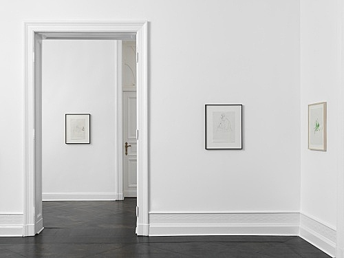 Michael Krebber Albert Oehlen – Works on Works on Paper installation view Galerie Buchholz, Berlin 2018