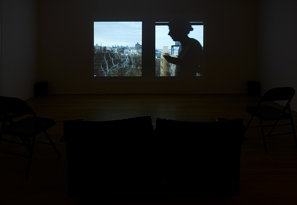 "Moyra Davey – ""Wedding Loop"", 2017 HDV, sound, 22′ 51″ installation view Galerie Buchholz, New York 2018"