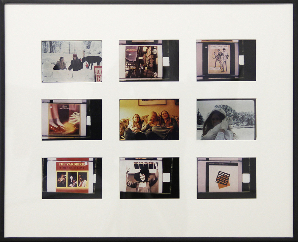 """Moyra Davey – """"Dance Party & Monkland Avenue"""", 1998-2000 36 c-prints in 4 panels each print 4 x 5.5 inches, each panel 18 x 22 inches framed: each frame 18 1/4 x 22 1/4 x 1 1/2 inches detail"""