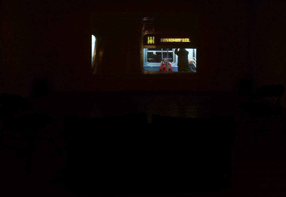 "Moyra Davey – ""Hemlock Forest"", 2016 HDV, sound, 41'15"" installation view Galerie Buchholz, New York 2018"