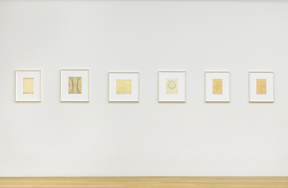 Paul Bonet – Drawings for Bookbindings compiled by Florian Pumhösl installation view Galerie Buchholz, New York 2018