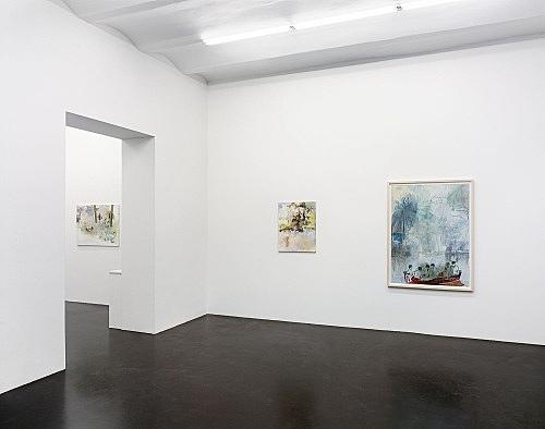 Peter Doig / Jochen Klein – installation view Galerie Daniel Buchholz, Köln 2004