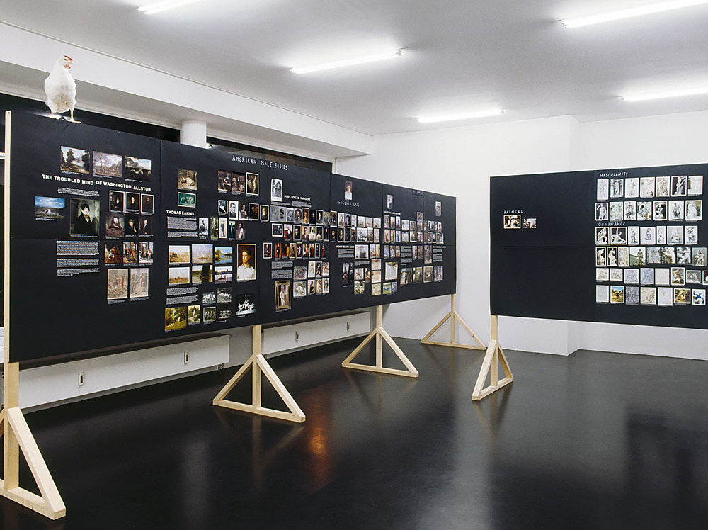 "Henrik Olesen – ""Some Gay-Lesbian Artists and/or Artists relevant to Homo-Social Culture I – VII"" installation view Galerie Daniel Buchholz, Köln 2007"