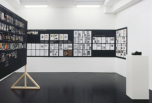 "Henrik Olesen – ""Some Gay-Lesbian Artists and/or Artists relevant to Homo-Social Culture I - VII"" installation view Galerie Daniel Buchholz, Köln 2007"
