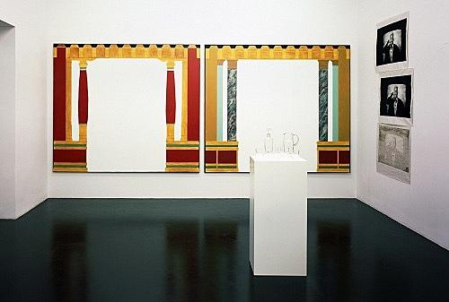 Lucy McKenzie, Mathias Poledna, Michael Fullerton – installation view Galerie Daniel Buchholz, Köln 2004