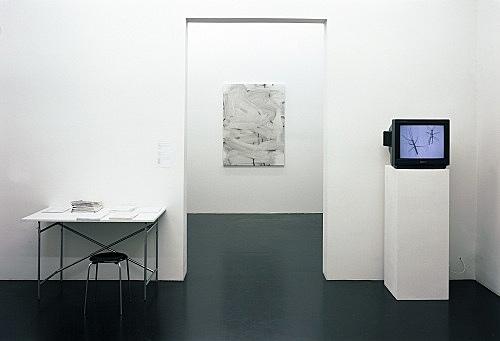 Henrik Olesen, Christopher Wool, Florian Pumhösl – installation view Galerie Daniel Buchholz, Köln 2004