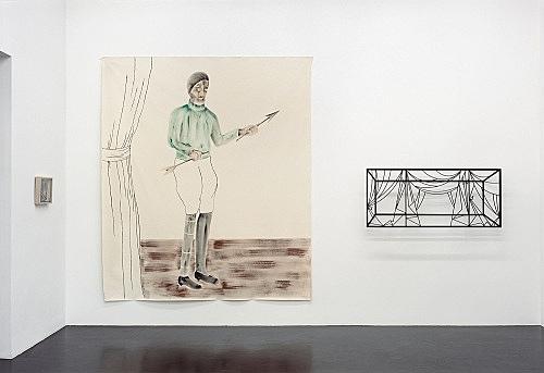 Enrico David, Julian Göthe – installation view Galerie Daniel Buchholz, Köln 2004
