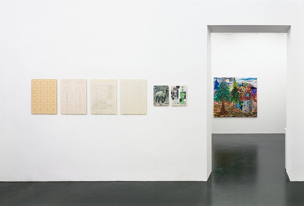 Bjorn Copeland, Aber Auer, Enrico David – installation view Galerie Daniel Buchholz, Köln 2004