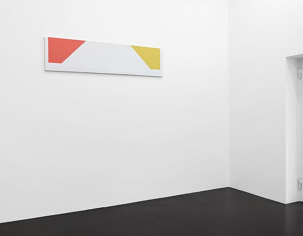 "Martin Barré – ""91-92 – 42 x 168 C"", 1991/92 acrylic on canvas 42 x 168 cm installation view Galerie Daniel Buchholz, Köln 2007"