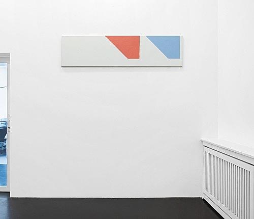 """Martin Barré – """"91-92 - 42 x 168 D"""", 1991/92 acrylic on canvas 42 x 168 cm installation view Galerie Daniel Buchholz, Köln 2007"""