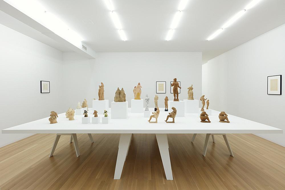 Elie Nadelman – Papier-mâché installation view Galerie Buchholz, New York 2018