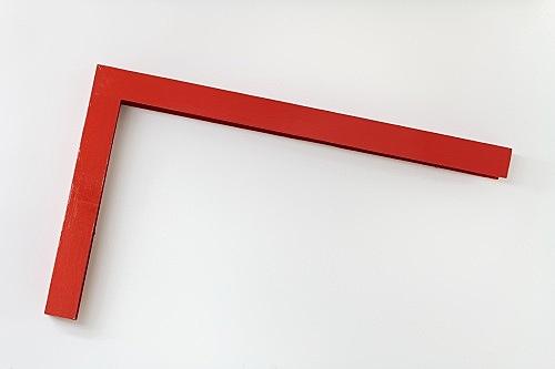 Henrik Olesen – Untitled, 2018 cardboard, acrylic, capalex primer, lacquer 100 x 59 x 8 cm