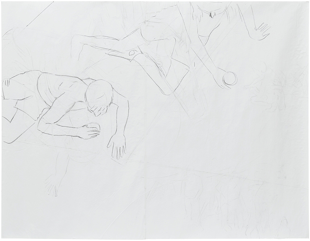 Thomas Eggerer – Untitled, 2018 charcoal on paper 178 x 229 cm