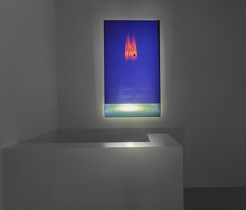 Trisha Donnelly – Untitled, 2018 projection, digital print 190 x 110 cm installation view Galerie Buchholz, Köln 2018