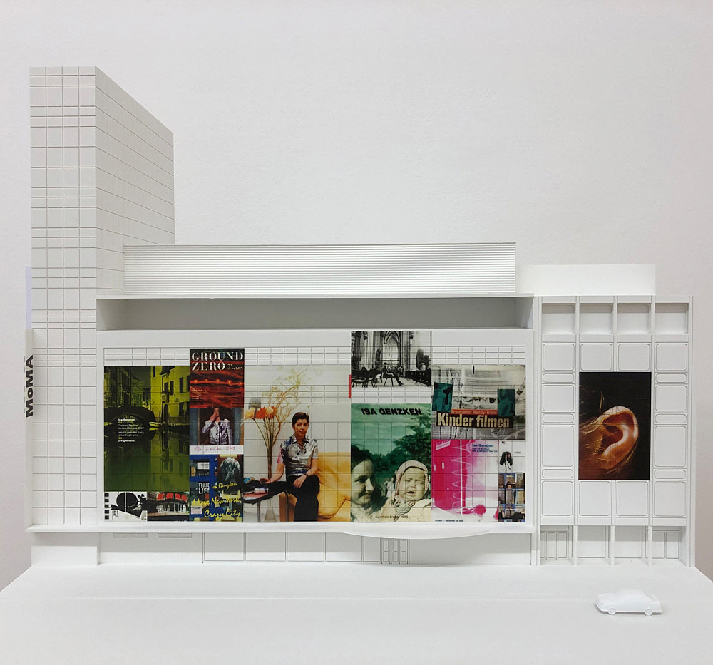 """Isa Genzken – """"MoMA"""", 2013 Project for New York, facade of the Museum of Modern Art on the occasion of the Isa Genzken retrospective Model, installation view Galerie Buchholz, Berlin 2018"""