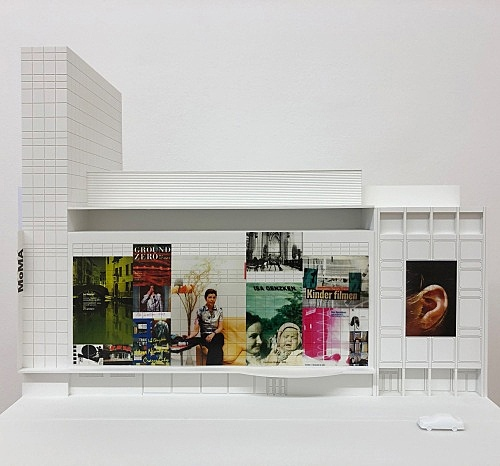 "Isa Genzken – ""MoMA"", 2013 Project for New York, facade of the Museum of Modern Art on the occasion of the Isa Genzken retrospective Model, installation view Galerie Buchholz, Berlin 2018"