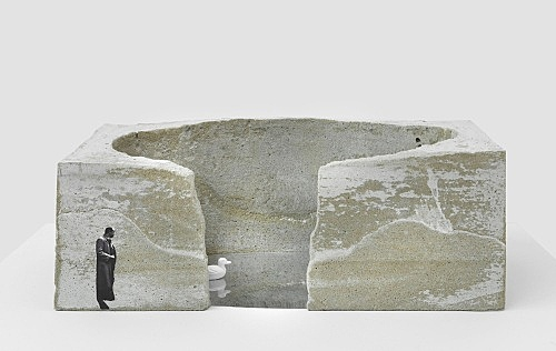 "Isa Genzken – ""Brunnen, Bonn"", 1987 Project for Bonn Model, installation view Galerie Buchholz, Berlin 2018"