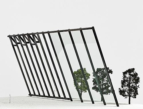 "Isa Genzken – ""Atelierfenster"", 1999 Project for Almere, on the occasion of 'Eingeladen / Uitgenodigd' at the Almeers Centrum Hedendaagse Kunst, De Paviljoens, Almere Model, installation view Galerie Buchholz, Berlin 2018"