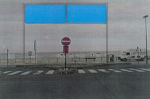 "Isa Genzken – ""Atelierfenster"", 1999 Project for Almere, on the occasion of 'Eingeladen / Uitgenodigd' at the Almeers Centrum Hedendaagse Kunst, De Paviljoens, Almere collage Isa Genzken"
