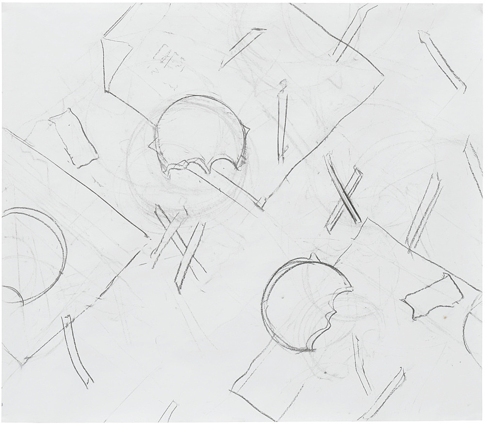 Thomas Eggerer – Untitled, 2018 charcoal on paper 86.6 x 99.5 cm