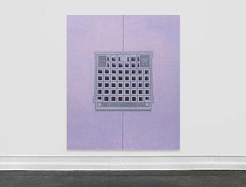 Thomas Eggerer – Untitled, 2018 oil on canvas 273 x 229 cm installation view Galerie Buchholz, Berlin 2018