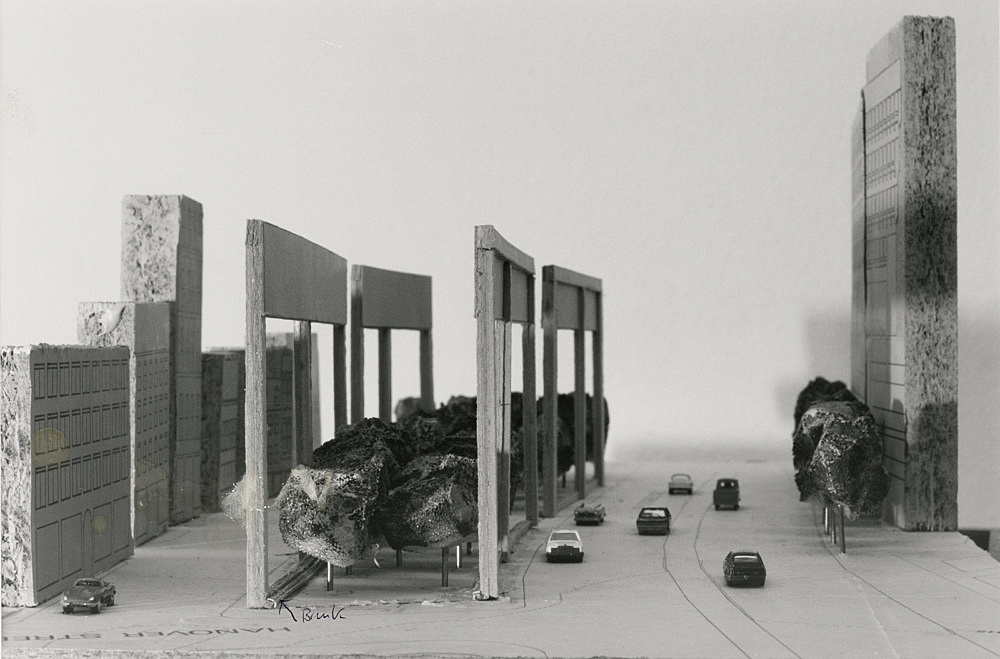 """Isa Genzken – """"Holocaust Memorial"""", 1991 Project for a memorial in Boston, on the occasion of the call for entries by the Boston Jewish Community photograph Isa Genzken"""