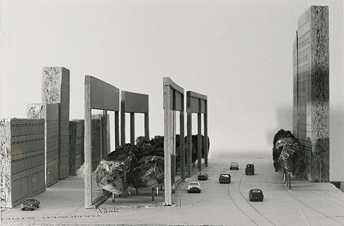 "Isa Genzken – ""Holocaust Memorial"", 1991 Project for a memorial in Boston, on the occasion of the call for entries by the Boston Jewish Community photograph Isa Genzken"