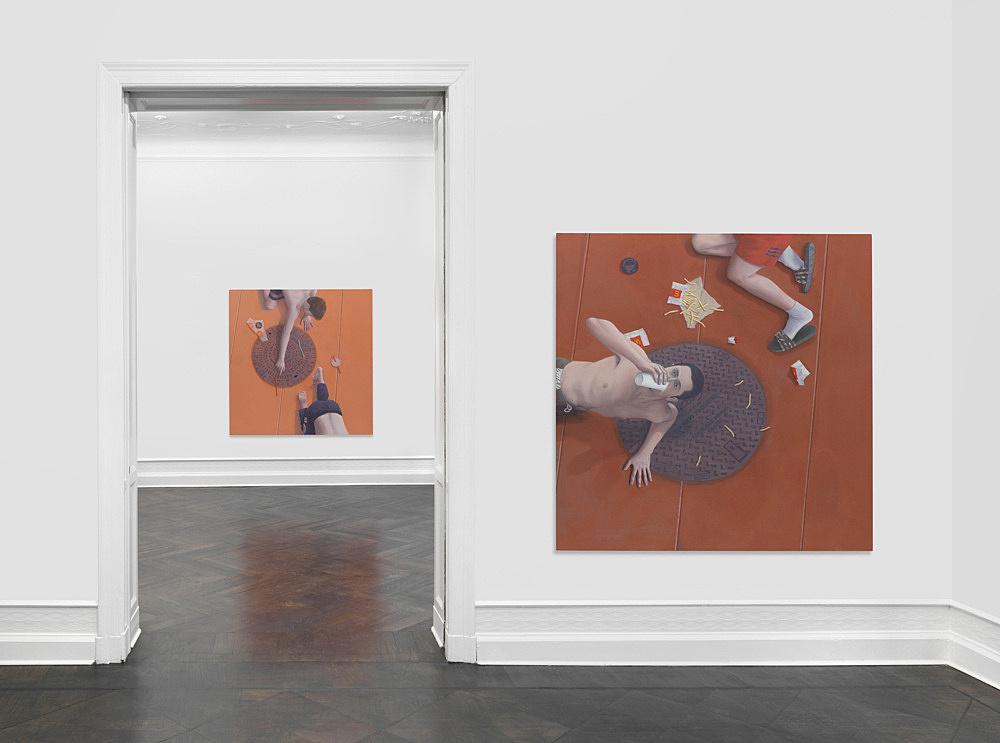 Thomas Eggerer – Asphalt installation view Galerie Buchholz, Berlin 2018