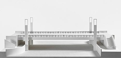 "Isa Genzken – ""Brücke, Das ist die Berliner Luft, Luft, Luft ..."", 2000 Project for Berlin, public competition for a new bridge near the city hall Model, installation view Galerie Buchholz, Berlin 2018"