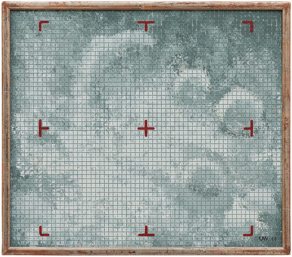 """Ulla Wiggen – """"Planet"""", 1968 acrylic on wood panel 28 x 32 cm"""