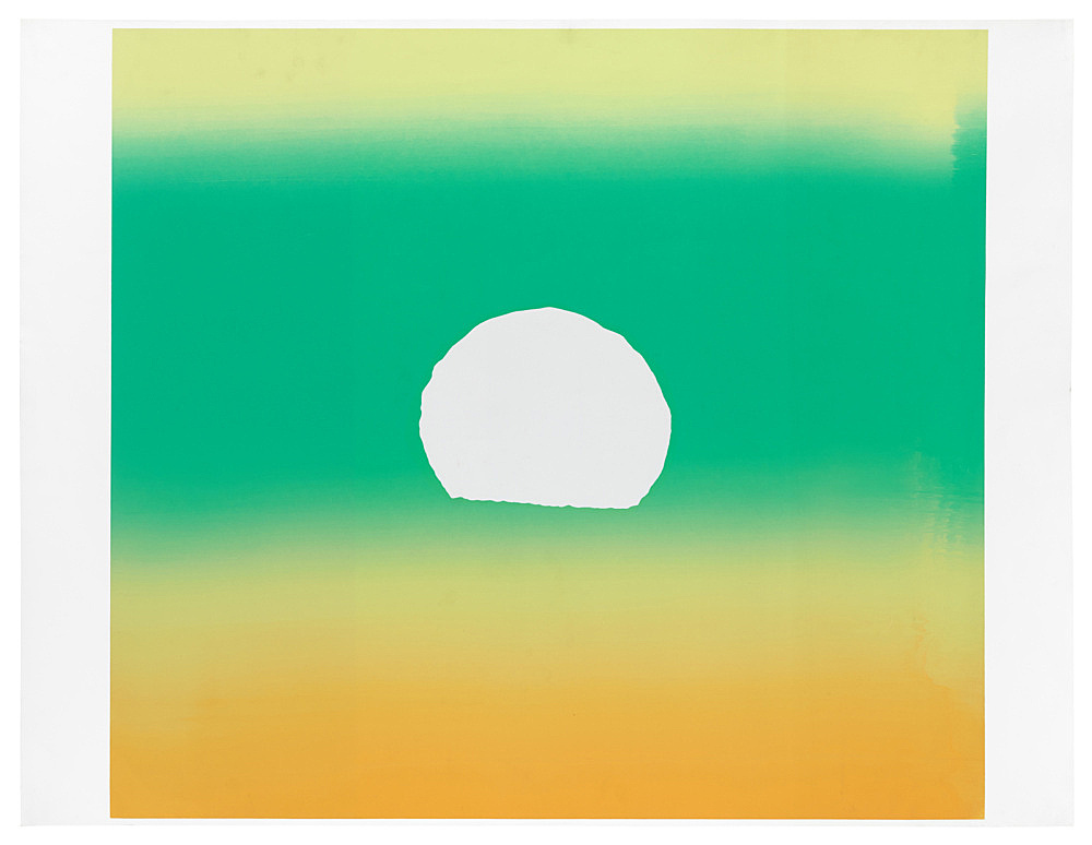 "Andy Warhol – ""Sunset (See F. & S. IIA.85-88)"", 1972 screenprint in colors on paper, unique trial proof, aside from the total edition of 632 unique impressions image size: 87 x 97.5 cm paper size: 89 x 115.5 cm"