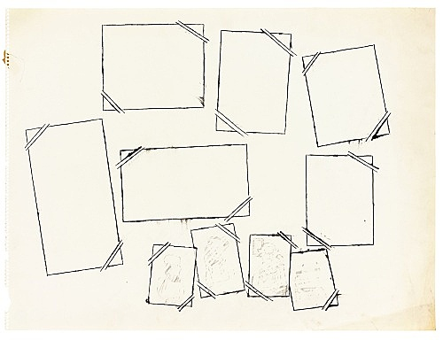 "Andy Warhol – ""Still Life"", ca. 1956 ink and graphite on paper 45.3 x 60.6 cm"
