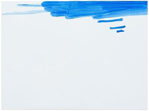 """Michael Krebber – """"ohne Titel (Wirklichkeit erschlägt Kunst) 4"""", 2019 acrylic on canvas 76 x 101.5 cm"""