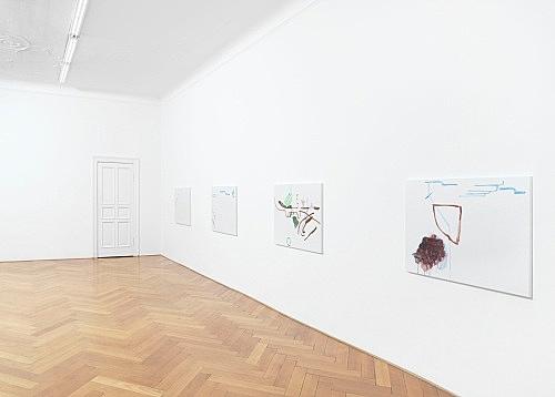 Michael Krebber – Wirklichkeit erschlägt Kunst installation view Galerie Buchholz, Berlin 2019