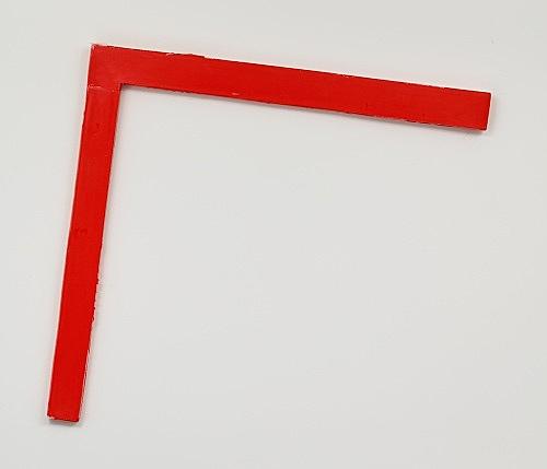 "Henrik Olesen – ""Red Corner"", 2019 epoxy resin, metal, silicone 102 x 110 x 4 cm"