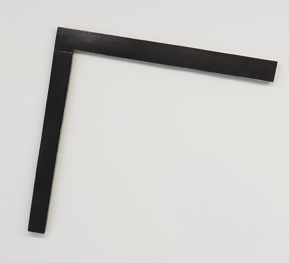 "Henrik Olesen – ""Corner"", 2019 epoxy resin, metal, silicone 103 x 110 x 4.5 cm"