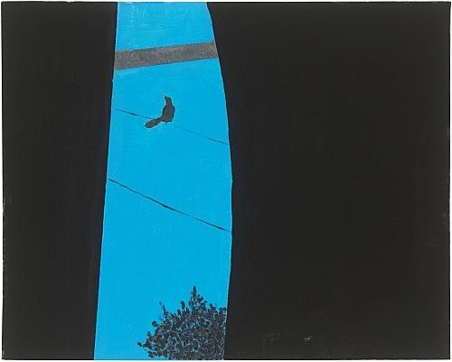 Mayo Thompson – Window, 2017-2018 gouache on canvas 61 x 76.5 cm