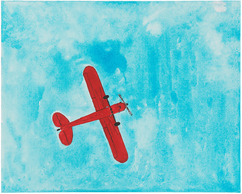 Mayo Thompson – Piper J-3 Cub, 2019 gouache and pencil on canvas 76.5 x 61 cm