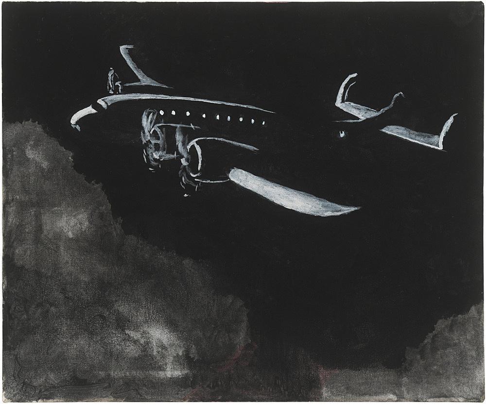 Mayo Thompson – Constellation, 2017-2018 gouache on canvas 51 x 61 cm