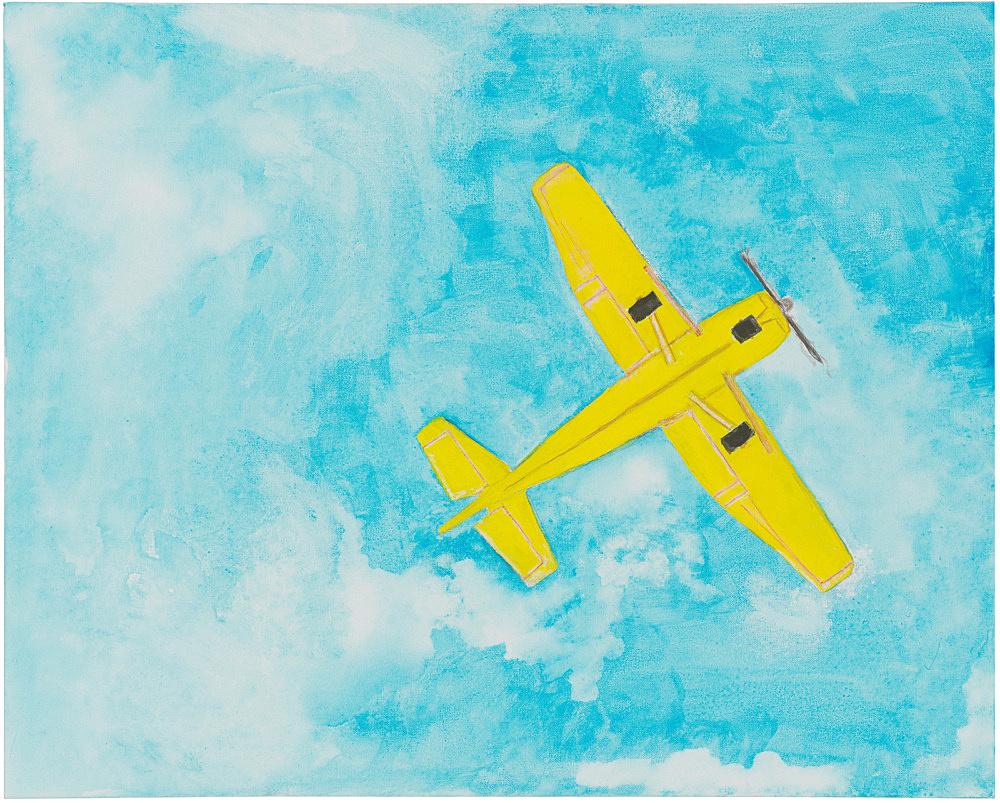 Mayo Thompson – Cessna 137, 2019 gouache and pencil on canvas 76.5 x 61 cm