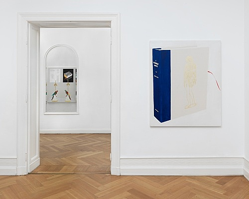 Frances Stark – lonely and abandoned on the market place installation view Galerie Buchholz, Berlin 2019