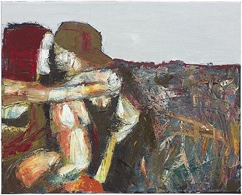 """Nicolas Ceccaldi – """"Only a Duke would Dare"""", 2018 oil on canvas 61 x 76 x 2 cm"""