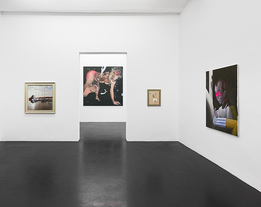 Julien Ceccaldi Nicolas Ceccaldi Mathieu Malouf – Ritratto d'un capello inquietante installation view Galerie Buchholz, Köln 2019