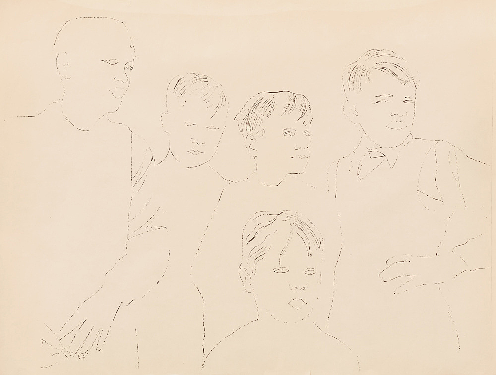"""Andy Warhol – """"Children"""", ca. 1957 offset lithograph on paper 56 x 74 cm"""